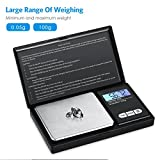 AMIR Digital Mini Scale, 100g 0.01g/ 0.001oz Pocket Jewelry Scale, Electronic Smart Scale with 7 Units, LCD Backlit Display, Tare Function, Auto Off, Stainless Steel & Slim Design