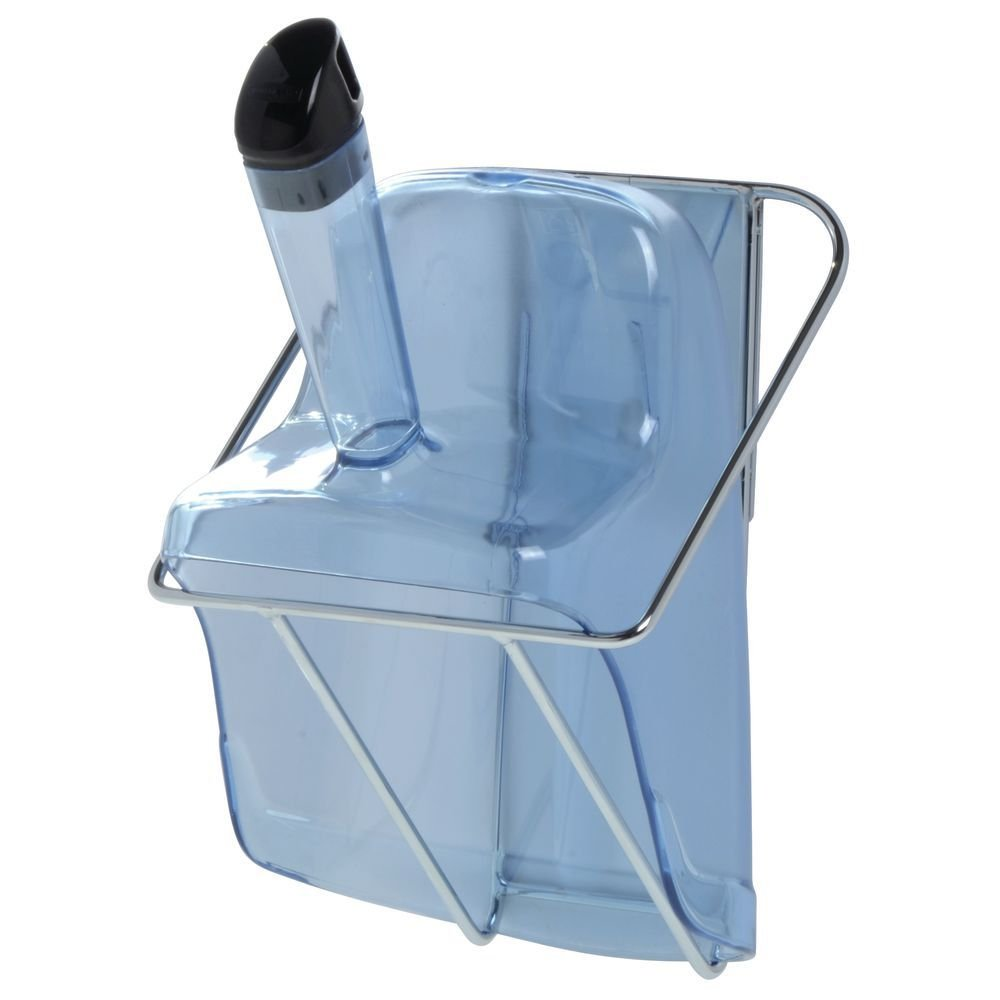 Rubbermaid ProServe? Blue Plastic Ice Scoop With Hand Guard and Holder - 12''L x 7 1/2''D x 8''H