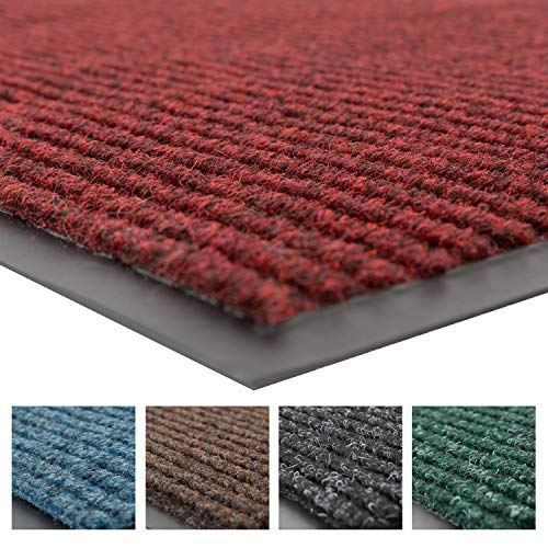 Notrax 109 Brush Step Entrance Mat, for Home or Office, 2' X 3' Red/Black ()