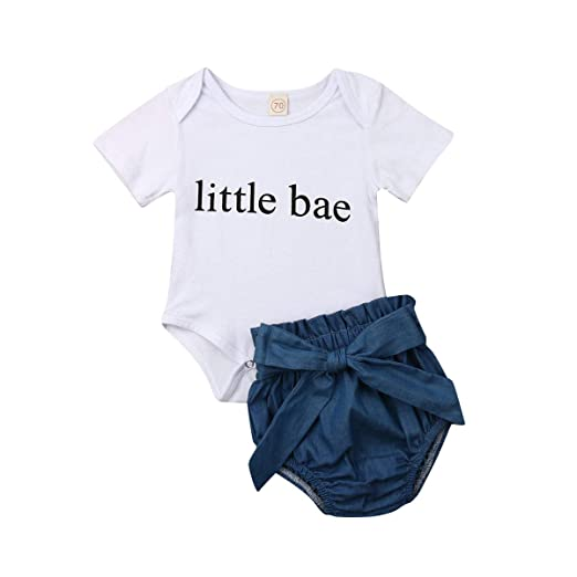 cf59040a6 Newborn Infant Baby Girl Fathers Day Outfit Daddy's Little Girl Print Romper  Jumpsuit+Tutu Shorts