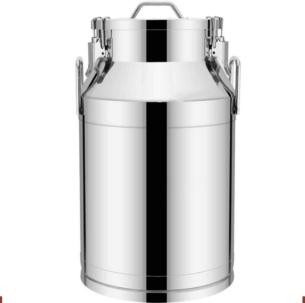 Acero inoxidable barril de almacenamiento sellada barril hogares múltiples de almacenamiento de tamaño barril de vino del barril de vino 22L-55L se puede aplicar a la leche barril barril de arroz barr