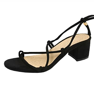 bb1825b8aa0 Image Unavailable. Image not available for. Color  Atyche Women s Mid Heel  Lace up ...