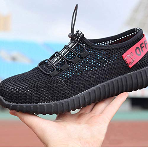 Mens Industrial Shoes Womens Steel Work Safety Summer Shoes Red Footwear Construction Breathable Outdoor Memorygou Black Toe dqw7vd
