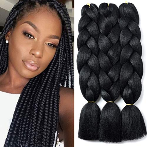 (YAYAFAIRY Ombre Braiding Hair Kanekalon Jumbo Braids 24
