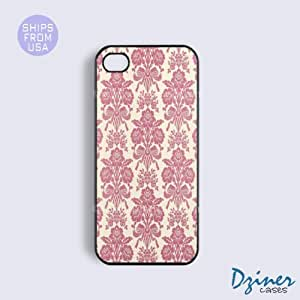 iPhone 5c Tough Case - Pink Damask iPhone Cover