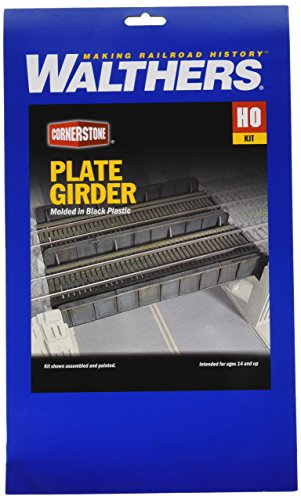 Walthers Cornerstone Series Kit HO Scale Through-Plate Girder - Atlas Bridge Plate Girder