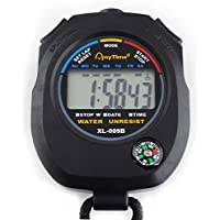 Iso Trade Multifunctional Digital Timer With Compass Stopwatch Athletic LCD Display #445
