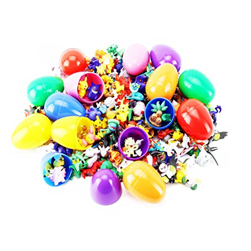 FAVTOY ISLAND - 12 Prefilled Easter Egg with 12 piece Pokemon Randomly Assorted Action Figures (All Pokemon Generation)