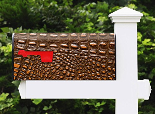 Awesome Mailbox - Skinshop Alligator Printed Design - Metal, Post Mount and Made in the USA