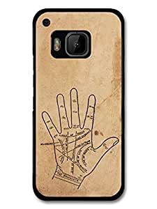 Palmistry Gypsy Hipster Retro Stylish Design on Rustic