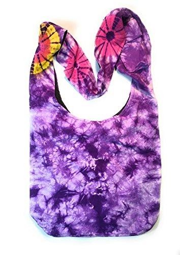 Purple Dye Purse in Tie Shoulder Cross Handbag Body x1wa0Xq