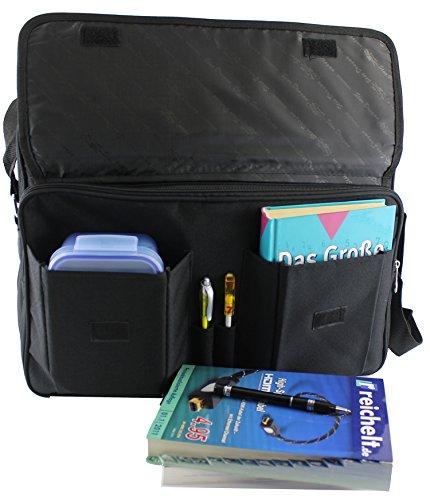 Signor tasca, Messenger Bag, Borsa a tracolla, borsa da lavoro, assistente di volo,, colore: nero