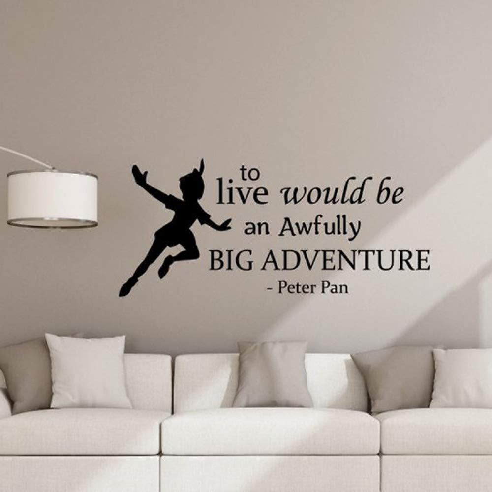 HNXDP Peter Pan Cita Tatuajes de pared para vivir sería una gran ...
