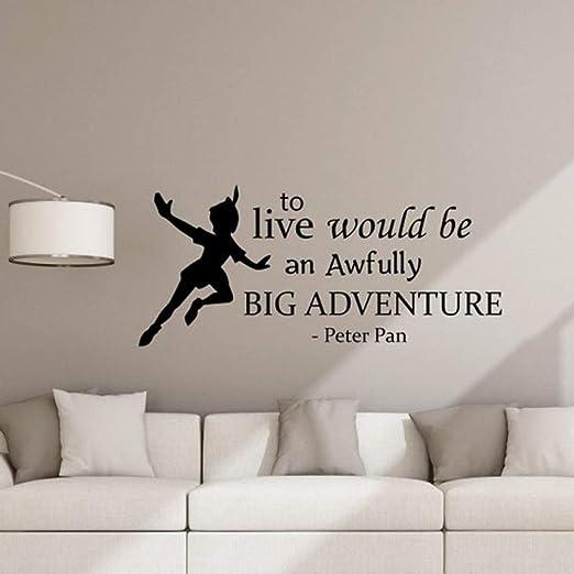 HNXDP Peter Pan Cita La calcomanía de pared para vivir sería ...