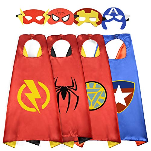 Easony Outdoor Toys for 3-10 Year Old Boys, Fun Cool Super Hero Capes Costumes for Kids Christmas Birthday Presents Gifts for 3-10 Year Old Boys ESUSSC004