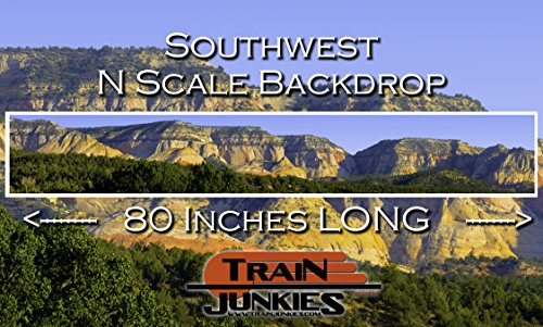 Used, Train Junkies Southwest - Railroad Backdrop N Scale for sale  Delivered anywhere in USA