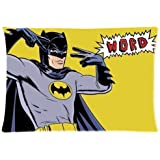 Funny Simple Batman Custom Zippered Pillowcase Pillow Cases Cover 20 X 30 Inch (twin side)