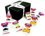 Jols Sugar Free Pastilles 4-Flavor Variety: Two 0.88 oz Packets Each of Orange, 3 Fruits, Blackcurrant, and Forest Berries in a BlackTie Box (8 Items Total)