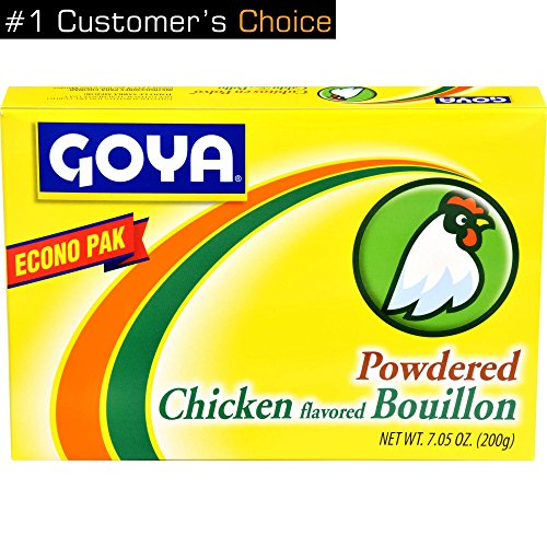 Goya Foods Chicken Flavored Bouillon Powder Econo Pak, 7.05 Ounces (Pack of 2)