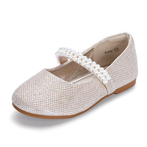 Girls Casual Shoes Sneakers Little Kids Big Kids Pu Leather Girls Pearl Dress Shoes Party Dance Shoe Flats