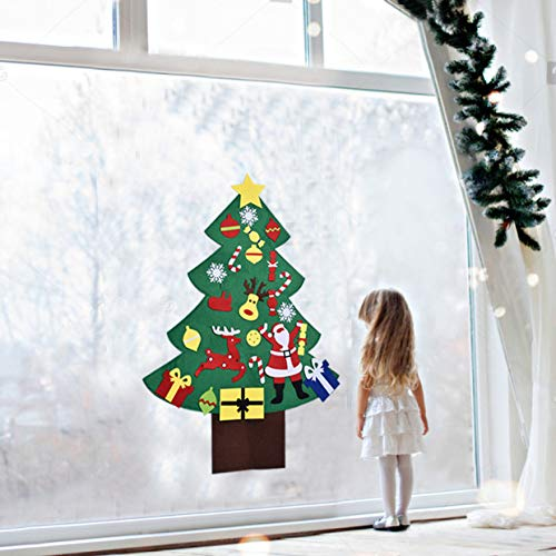 Classroom Door /& Wall Decorations DIY Toys DIY Christmas Tree 3FT for Kids with 28PCs Felt Christmas Tree,Ornaments Party Favor