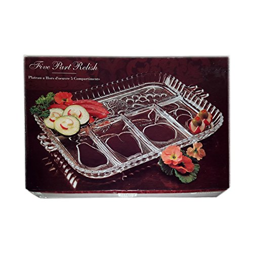 Indiana Glass Five Part Relish Dish No. 5257