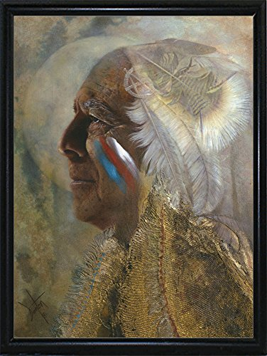 Frame USA Wicasa Wakan (the Holy Man) Framed Print 42.5''x31.5'' by Denton Lund, 42.5x31.5, Metal Frame Flat Back by Frame USA