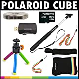 Polaroid Deluxe ESSENTIAL KIT For The Polaroid Cube, Cube+ Video Action Camera - Great Add On Package