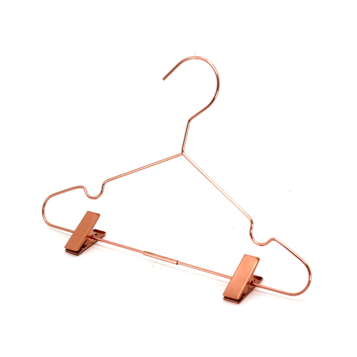 Koobay 50Pack 13'' Rose Copper Gold Shiny Metal Wire Top Clothes Hangers with Clips for Shirts Coat Storage & Display by Koobay (Image #5)