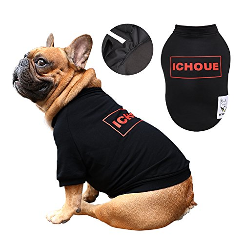 iChoue Dog Sweatshirt T-shirts Half Zipper Clothes for English Bulldog Plus Size Box Logo Shirt – Black XL Review