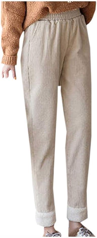 Pantalones Mujer Invierno Pantalones Mujer Anchos Casual Moda Mujer Casual Suelta Pantalones De Color Solido Pantalon Lapiz Pantalon Largo Amazon Es Ropa Y Accesorios