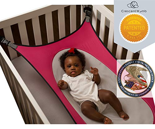 Crescent Womb Infant Safety Bed - Breathable & Strong Material That Mimics The Womb While Reducing The Environmental Risks Associated with Early Infancy, Pink