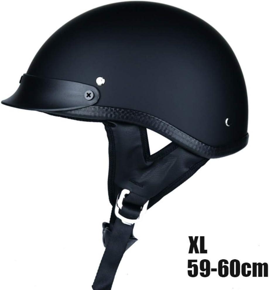Forart German Style Motorcycle Half Helmet Open Face Cruiser Chopper Biker Skull Cap Helmet