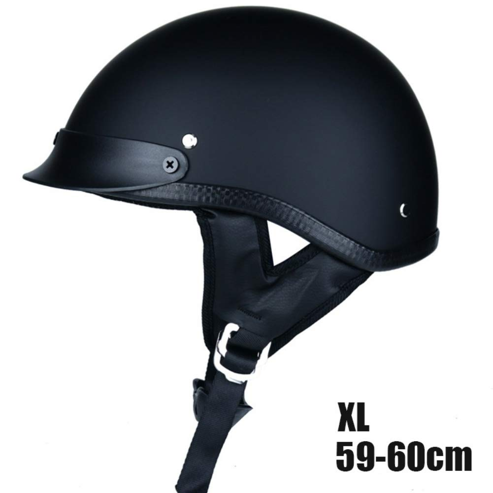 Open Face Motorcycle Half Helmet Inicio DOT German Style Cycling Motorbike Biker Cruiser Chopper Helmet Matte Bright Black M L XL
