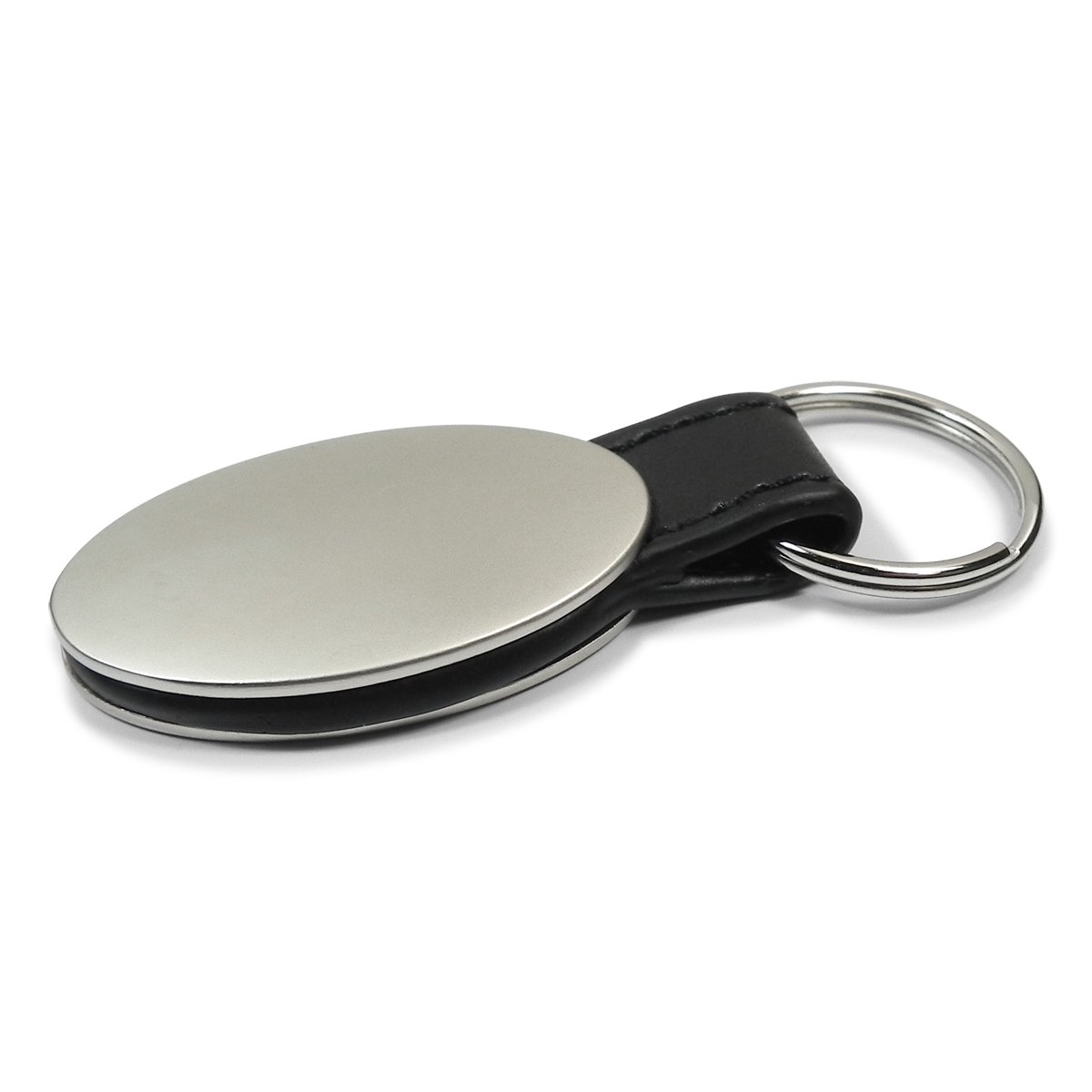 Ford Mustang 50 Years Anniversary Oval Style Metal Key Chain Key Fob AG-KC3210-MUS5Y INC Au-Tomotive Gold