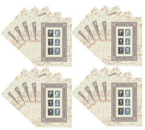 (The Classic Era Souvenir Sheet of 6 Forever USPS Postage Stamps Patriotic, Historic, George Washington, Benjamin Franklin, Abraham Lincoln (20 Sheets of 6 stamps))
