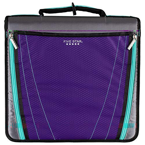 - Five Star Zipper Binder, 2 Inch 3 Ring Binder, Expanding Pocket, Durable, Purple (73303)