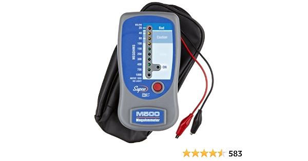500V Max Test Voltage Supco M501 Megohmmeter with Sturdy Service Case