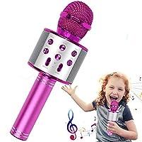 Kabelloses Karaoke-Mikrofon, Bluetooth Karaoke-Mikrofon, 4-in-1, tragbarer Karaoke-Player, Heim-KTV-Player mit...
