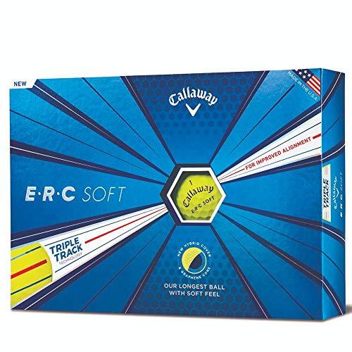 Callaway Golf ERC Soft Triple Track Golf Balls, (One Dozen), - Soft Golf Dozen Balls