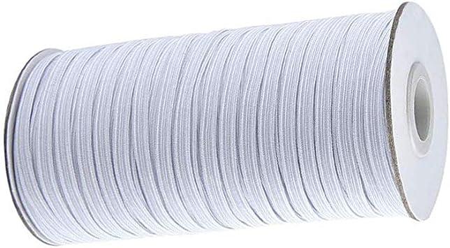 109Yards LengthDIY Braided Elastic Band Cord Knit Band Sewing 1//8 inch 100mt5