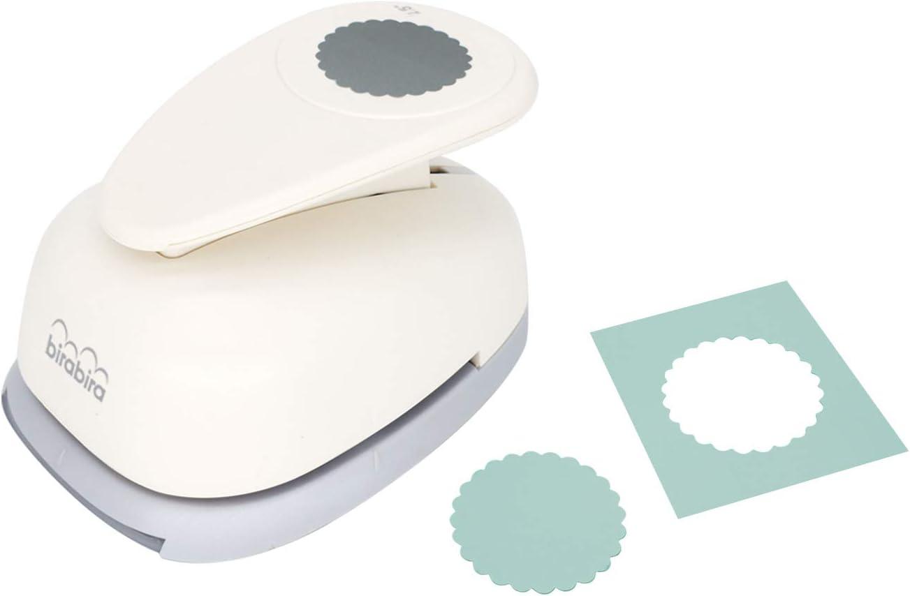 punch troqueladora forma circular festoneada 6.4 cm