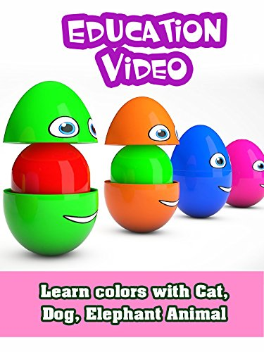 Learn colors with Cat, Dog, Elephant Animal - For Cats And Dogs :