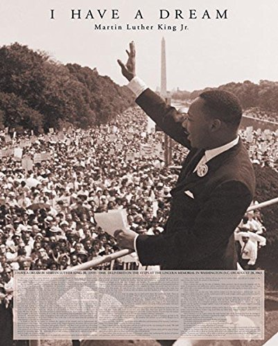 Martin Luther King Jr I Have A Dream Speech Human Rights Motivational  Poster 16 x 20 inches