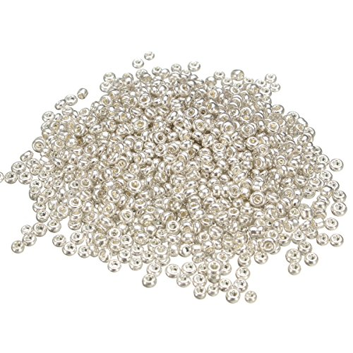 Jewelry and Watch - 500Pcs 2mm Silver Glass Spacer Beads Loose Beads DIY Jewelry Accessories from Unknown