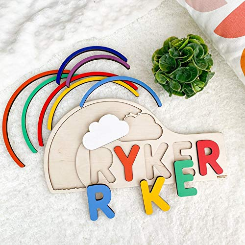 Personalized Rainbow Name Puzzle Personalized Name Nursery Decor for Girl Easter Present Gift for Little Girl Name Sign Custom Puzzle