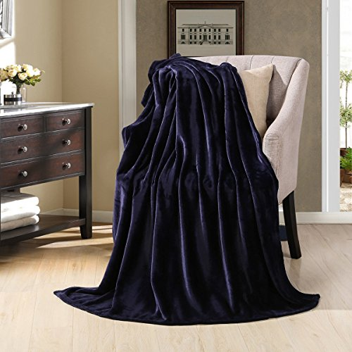HYSEAS Velvet Plush Throw, Home Fleece Throw Blanket, 50 by