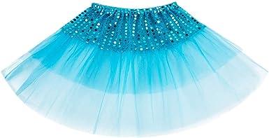 Kaicran Layered Ballet Tulle Sequins Tutu Skirt Princess Dress up Dance Wear for Little Girls 2-7 Years