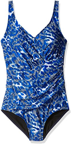 Amoena Women's Cairo Pocketed Printed One Piece Swimsuit, Multi, 22C