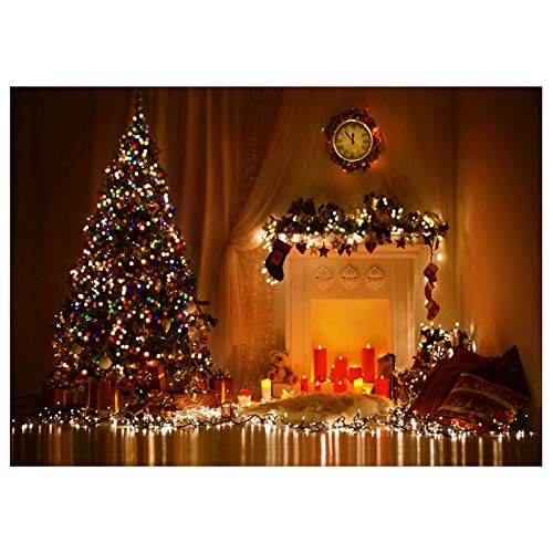 Party Backdrops - Nhbr 5x7ft Christmas Theme Photo Background Photography Backdrop Props Glowing Tree - Pink Baby Wall For Wood Photography Stand Black Christmas With ()